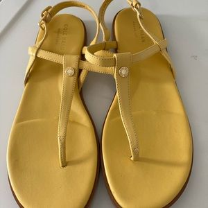 Cole Haan Grand 360 yellow sandals